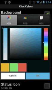 Farben ändern mit WhatsApp Plus