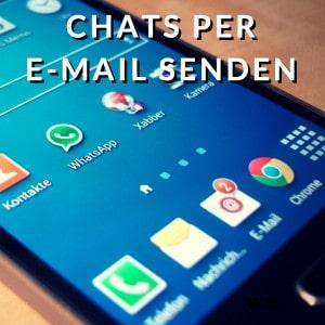 WhatsApp Chats per E-Mail senden