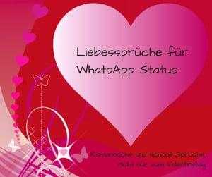 Liebessprüche für WhatsApp Status, romantisch und schön, nicht nur ...