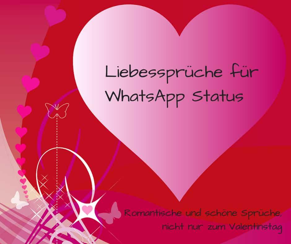 Liebesspruche Fur Whatsapp Status Romantisch Und Schon Nicht Nur
