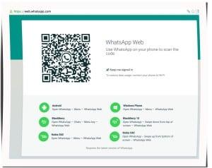 QR-Code scannen, von web.whatsapp.com