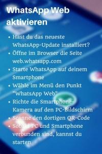 Checkliste mit Schritt-für-Schritt-Anleitung, um WhatsApp Web zu aktivieren