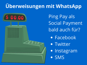 Social Payment mit WhatsApp