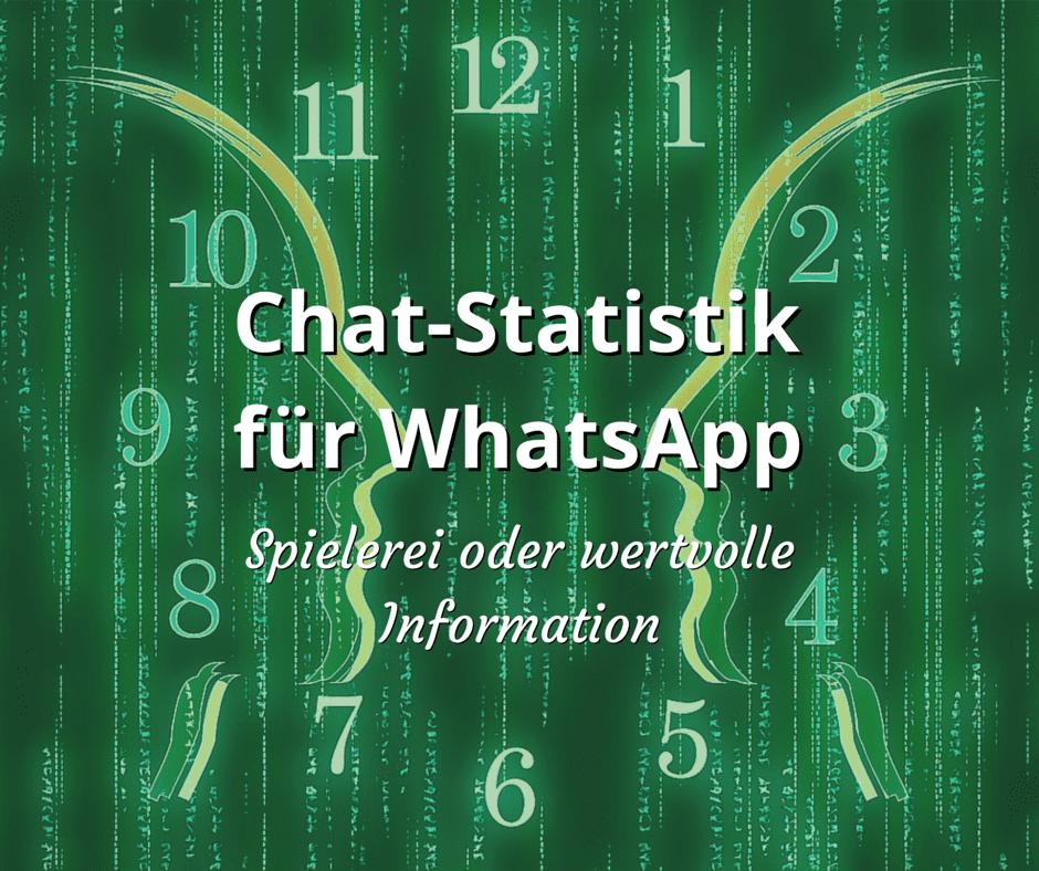 Chat-Statistik für WhatsApp