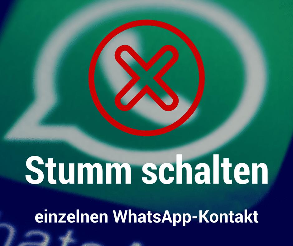 WhatsApp-Kontakte einzeln stumm schalten