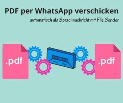 PDF per WhatsApp verschicken